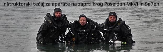Inštruktorski tečaj za aparate na zaprti krog Poseidon MKVI in Se7en